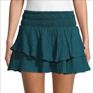 Red Carter Layered Mini Skirt